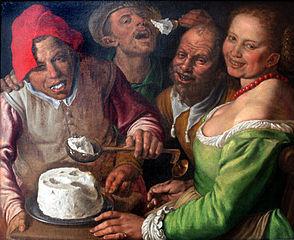 """""""Les mangeurs de ricotta"""" -  Vincenzo Campi - 1580"""